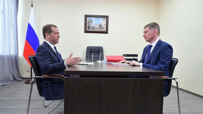 Рабочая встреча главы Правительства РФ Дмитрия Медведева с губернатором Пермского края и представителями бизнеса